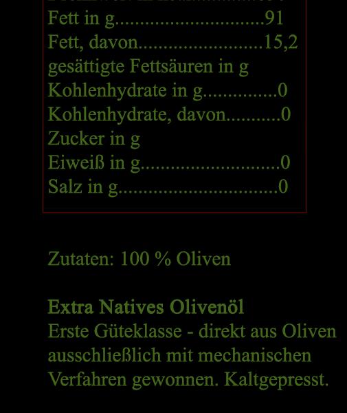 Extra Natives Olivenöl // zurückhaltend-fruchtig